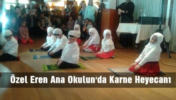 Özel Eren Ana Okulunda Karne Heyecanı.