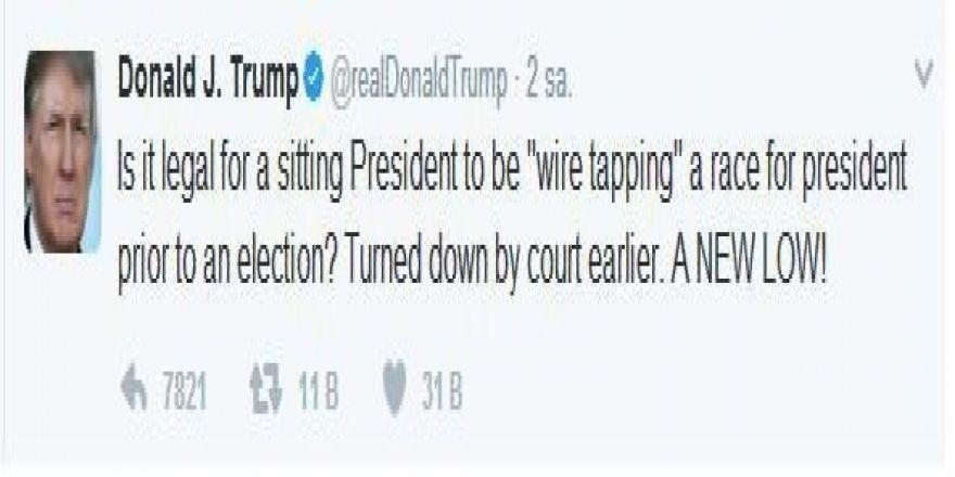 "Trump, Obama'ya ""hasta adam"" dedi"