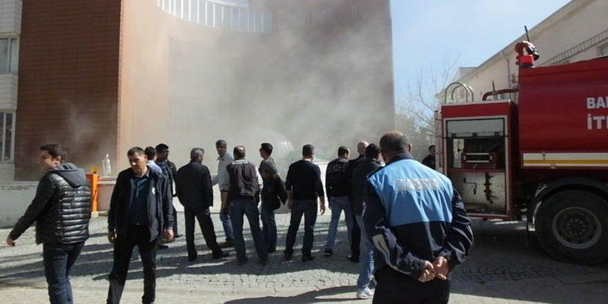 Belediye arşivinde yangın