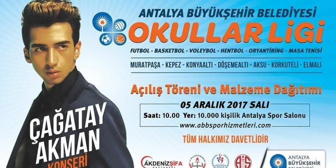 Okullar Ligi heyecanı Çağatay Akman konseriyle başlıyor