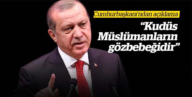 """Cumhurbaşkanı Dünyaya Seslendi : """"Kudüs Müslümanların Gözbebeğidir"""""""