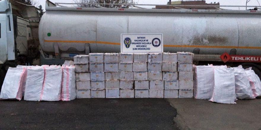Batman'da 55 bin 977 paket kaçak sigara ele geçirildi
