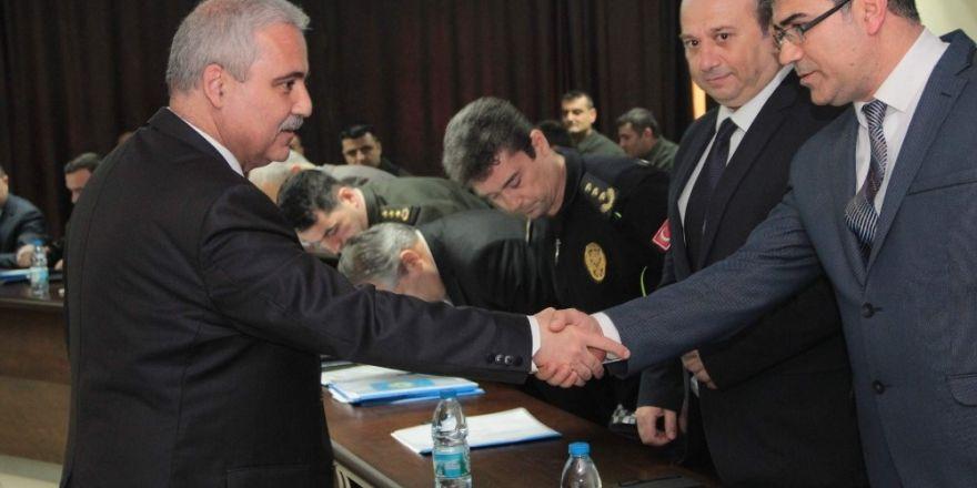 Manisa'da kolluk birimlerinden değerlendirme toplantısı