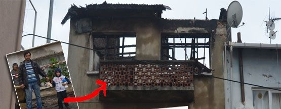 Tuzla'da Üç Katlı binada Yangın