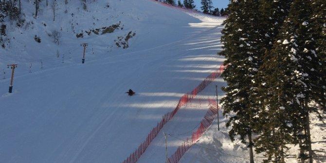 Elektrikler olmayınca Kayak Merkezi Kızak Merkezi oldu