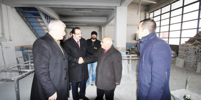 Başkan Memiş'ten Sanayi esnafına ziyaret