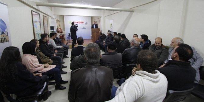 Başkan Memiş kültür sohbetlerine konuk oldu