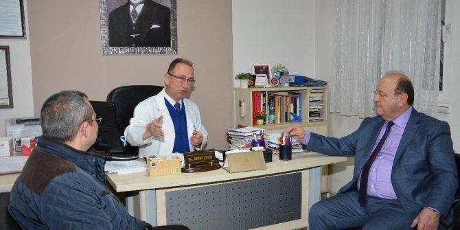 Başkan Özakcan 7 Nolu Sağlık Ocağı'nı ziyaret etti