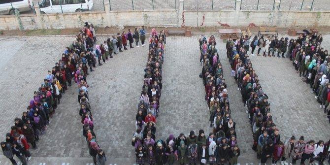 Silopi'de öğrencilerden koreografili Kudüs tepkisi