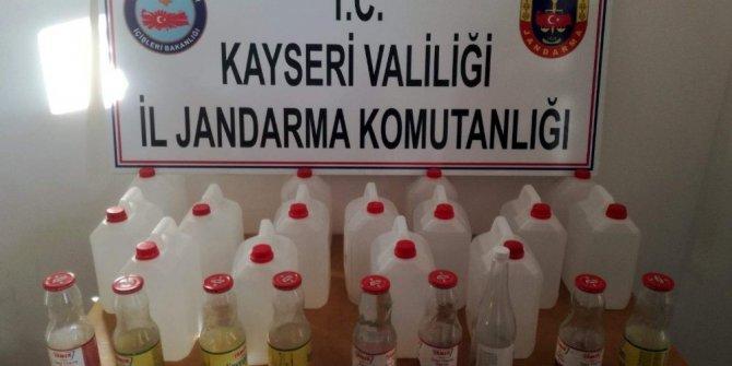 Kayseri'de sahte içki operasyonu