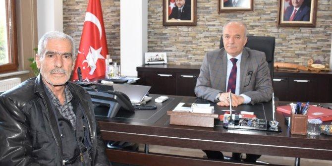 Şehit Fethi Sekin'in babası Dursunbey'de