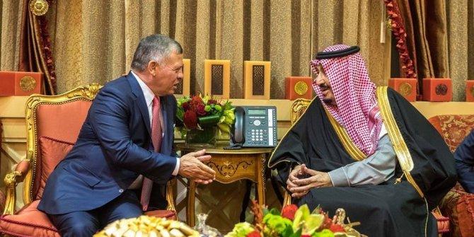 Ürdün Kralı II. Abdullah, Riyad'da Kral Salman Bin Abdulaziz ile bir araya geldi