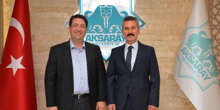 Aksaray'ın yeni Emniyet Müdürü Karabağ'dan Başkan Yazgı'ya ziyaret