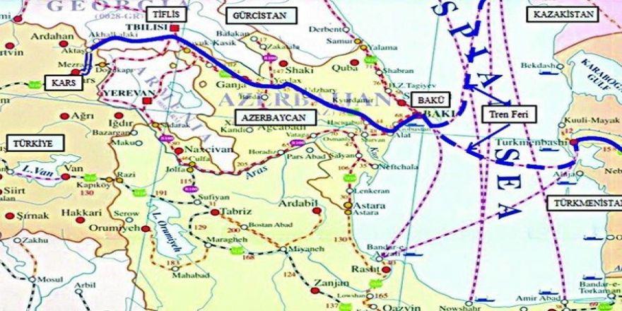 Kars-Tiflis-Bakü demiryolu açılırken