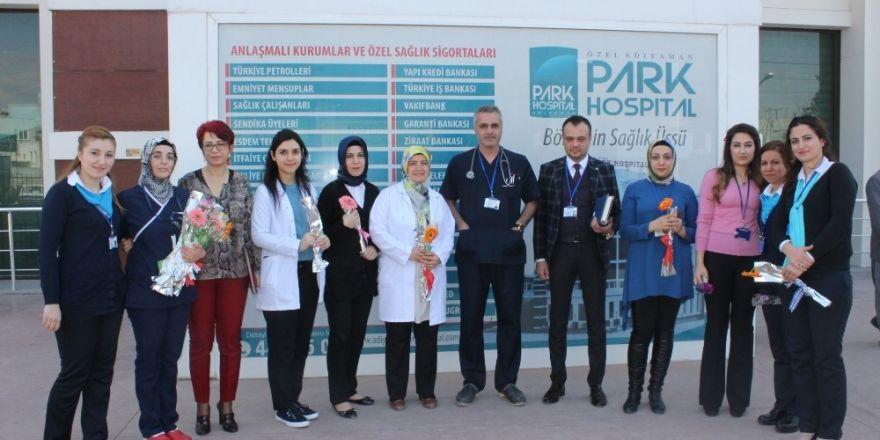 Özel Adıyaman Park Hospital Hastanesi kadınlar gününü unutmadı