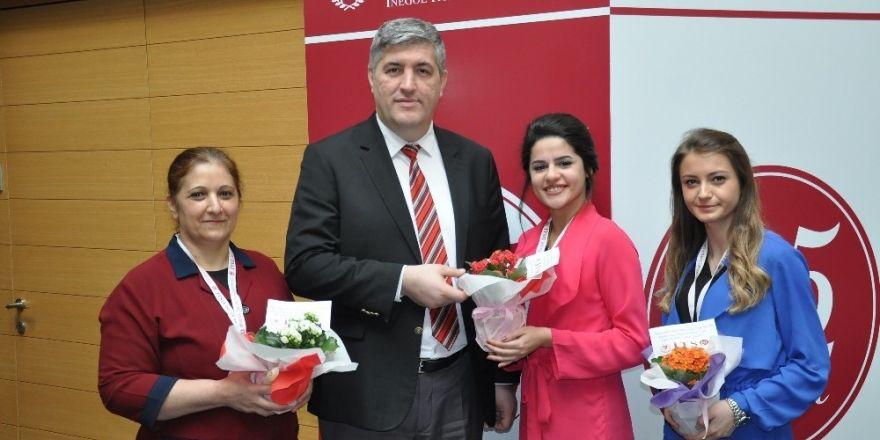 İTSO'dan kadın üyelerine çiçek