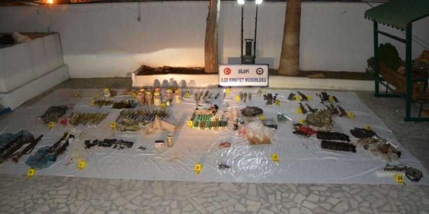 Şırnak'ta PKK'nın mühimmat deposu bulundu