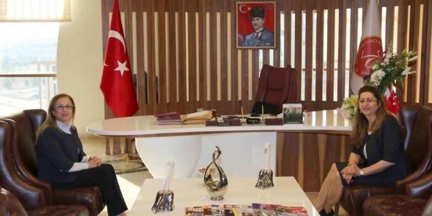 Defterdar Ercoşman, Rektör Kılıç'a veda ziyaretinde bulundu