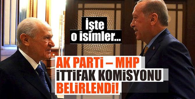 AK Parti'nin  MHP ile İttifak Komisyonunda Kimler Yer Alacak