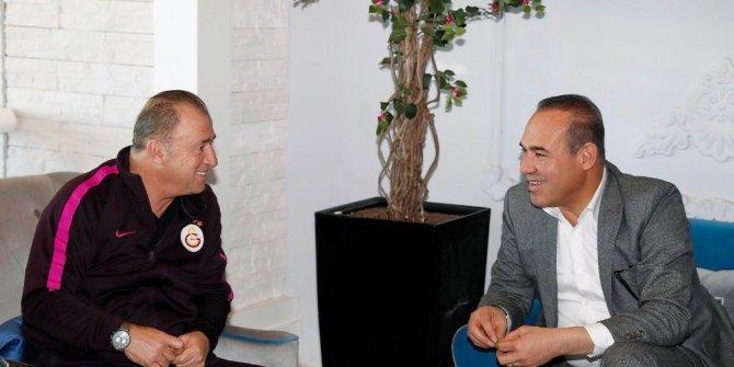 """Başkan Sözlü'den, Fatih Terim'e """"hayırlı olsun"""" ziyareti"""