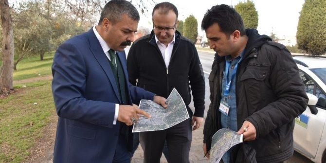 Salihli'de doğalgaz hattı çalışmaları başladı
