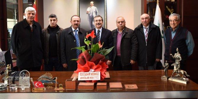Avcılardan Başkan Ataç'a ziyaret