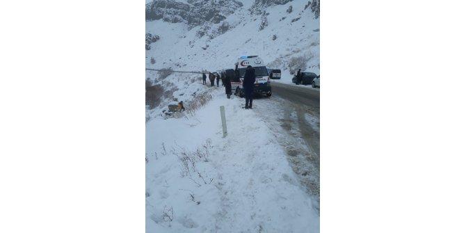 Tutak'ta otomobil nehre uçtu: 2 yaralı