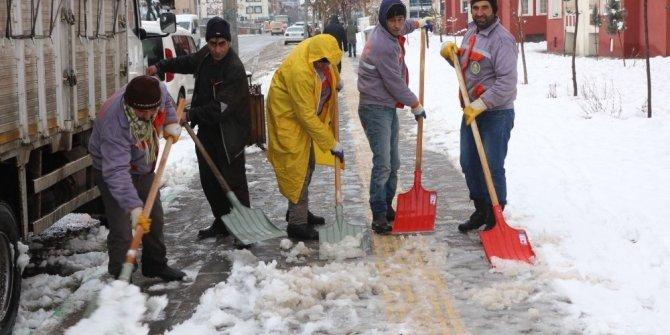 Bingöl'de karla mücadele çalışmaları