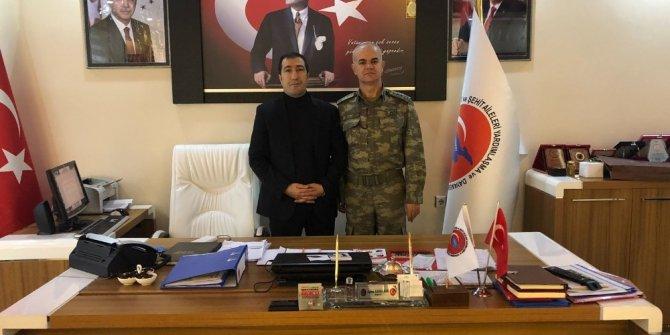 6. Hudut Alay Komutanı Yenilmez'den Başkan Kahraman'a ziyaret