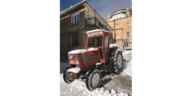 Beyşehir'de karla mücadele çalışmaları