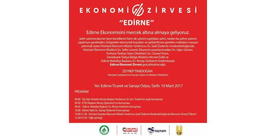 Edirne'nin ekonomisi masaya yatırılacak