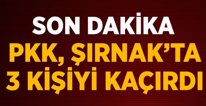 PKK'lılar, 1'i Korucu 3 Kişiyi Kaçırdı