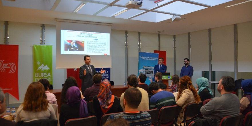 Prof. Dr. Rüstem Aşkın, gazeteci adaylarıyla bir araya geldi.