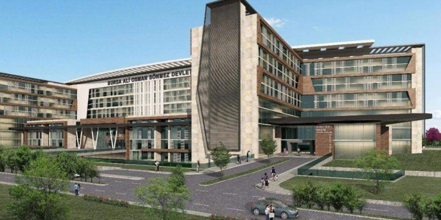 Bursa'nın yeni sağlık üssüne 2 bakanlı temel atma töreni