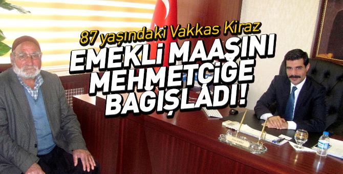 83 yaşındaki Vakkas Kiraz Emekli maaşını Mehmetçiğe bağışladı