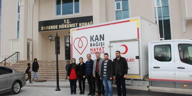 Darende'de kan bağışına ilgi