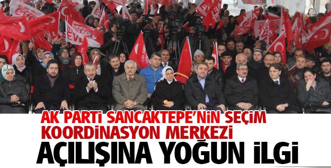 AK Parti Sancaktepe Seçim Koordinasyon merkezinin açılışına yoğun ilgi