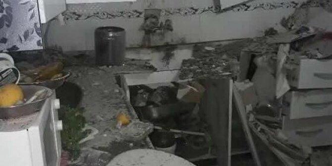 Suriye'den atılan roket evin tavanını delip pencereden bahçeye düştü