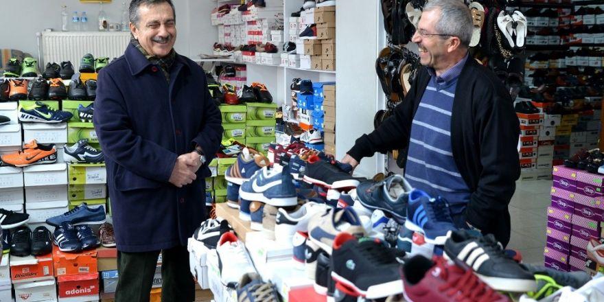 Başkan Ataç'ın esnaf ziyareti