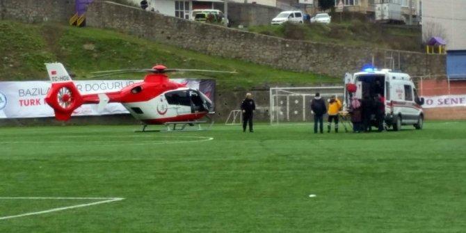 Multipe myeloma hastası memleketine helikopter ambulansla getirildi
