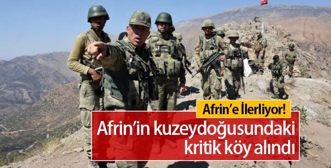 Afrin'de Son Durum:  Zeytune Köyü Teröristlerden Temizlendi