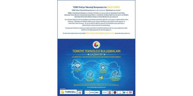 Teknoloji Buluşmaları Gaziantep Üniversitesi ev sahipliğinde gerçekleşiyor