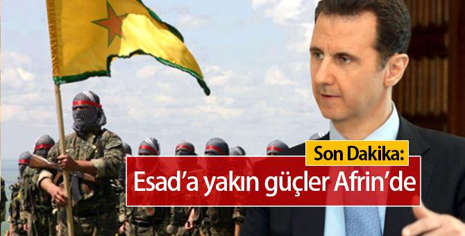 Son Dakika: Esad'a Yakın Güçler Afrin'de!