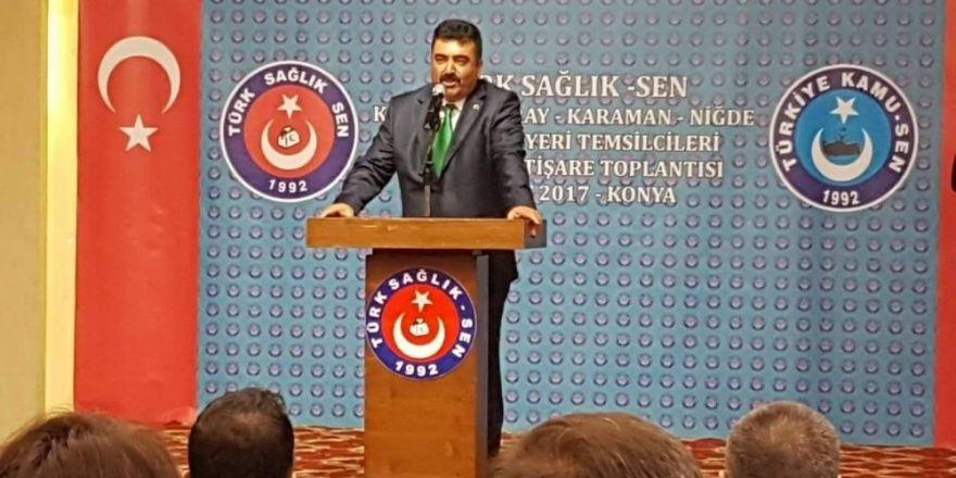 Türk Sağlık-Sen Niğde Şube Başkanı Adnan Özer;
