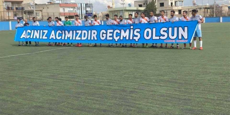 Kahta 1978 Spor'dan anlamlı pankart