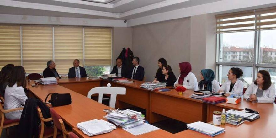 Başkan Mehmet Keleş Kültür Kolejini ziyaret eti