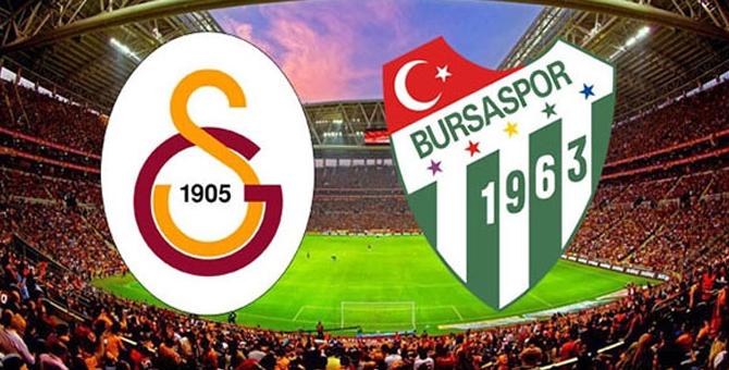 Galatasaray Bursaspor maçı kaç kaç bitti?