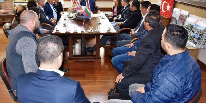 Marangozlar Başkan Alıcık'ı ziyaret etti