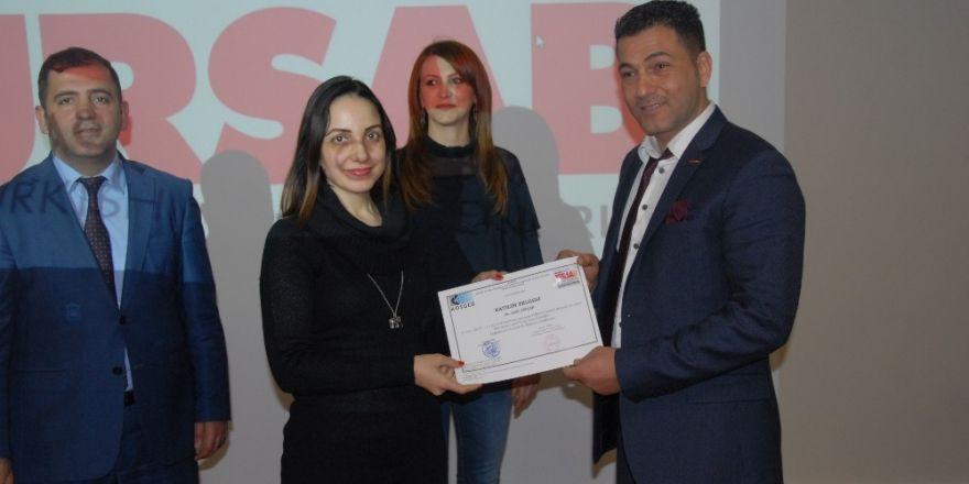 TÜRSAB Adana BYK'dan 60 girişimciye sertifika