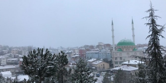 Kar yağışı Bursa'nın dağ yöresinde etkili oluyor